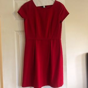 Madewell Red Pleated Dress